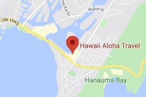 Map of Hawaii Aloha Travel office location